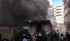 الدفاع المدني: العمل على اخماد حريق داخل معمل للخياطة في حارة حريك