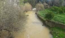النشرة: تساقط أمطار غزيرة في حاصبيا بظل انخفاض درجات الحرارة وارتفاع منسوب مياه نهر الحاصباني