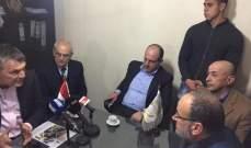 ابو عاصي يلتقي اتحاد بلديات البحيرة واتحاد بلديات السهل في جب جنين