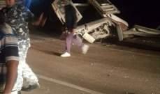 النشرة: جرحى بحادث سير مروع على طريق المصليح