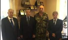 الابيض التقى المفتش العام اللواء الركن سمير الحاج وهنأه على منصبه
