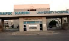 مستشفى بيروت الحكومي: 78 اصابة بكورونا و21 حالة حرجة ووفاة واحدة
