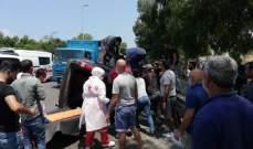 """النشرة: جريحان نتيجة حادث سير على أوتوستراد الغازية قرب """"مستشفى الراعي"""""""