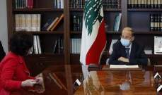 الرئيس عون:  لبنان حريص على تعزيز التعاون بين الجيش واليونيفيل لتثبيت الاستقرار في الجنوب