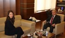 المشرفية التقى ممثلة هيئة الأمم المتحدة للمرأة في لبنان: لبناء مجتمع يقدّر المرأة ويحترم حقوقها