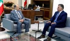 الرئيس عون يلتقي اللواء ابراهيم في بعبدا لوضعه بجو لقاءاته في الكويت