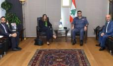 اللواء عثمان التقى سفيرة قبرص ورئيس بلدية جونية والنائب علم الدين