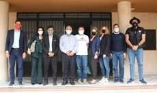 سعد بحث مع وفد من مجموعة منتشرين المستجدات على الساحة اللبنانية