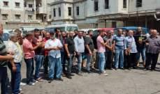 اعتصام للسائقين العموميين في صيدا: غدا اضراب مفتوح حتى تلبية مطالبنا