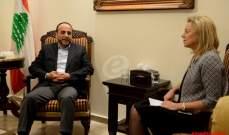 الموسوي بحث مع كاغ بملف النازحين السوريين والازمة السورية