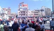 مسيرات شعبية في ساحة التل احتجاجا على تردي الأوضاع المعيشية