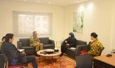 عز الدين تستقبل قائد القطاع الغربي لليونيفيل في صور لبحث سبل التعاون