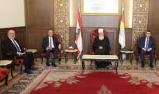 شيخ العقل استقبل رئيس مجلس إدارة بنك بيروت والبلاد العربية وناقش الوضع المالي