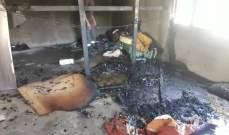 النشرة: 3 مصابين اثر حريق غرفة تقطنها عائلة سورية في قعقعية الجسر- النبطية