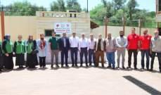 سفير تركيا شارك بتوزيع مساعدات رمضانية على النازحين في اقليم الخروب
