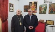 المطران درويش عرض أوضاع الانتخابات في زحلة مع النائب ماروني
