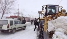 التحكم المروري: طريق ترشيش زحلة مقطوعة بسبب تكون طبقة من الجليد
