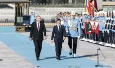 أردوغان يستقبل نظيره الأوكراني في أنقرة