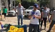 جريصاتي اطلق حملة تنظيف مجرى البردوني بالتعاون مع قطاع الشباب في التيار الحر