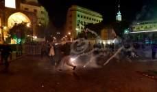 تجدد المواجهات بين المتظاهرين والقوى الأمنية في وسط بيروت