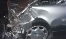 النشرة: 3 جرحى في حادث وقع عند مفرق السكسكية