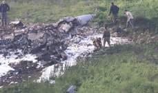 """الجيش الاسرائيلي: طائرة الـ""""أف16"""" أسقطتها نيران سورية فوق مجالنا الجوي"""