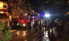 جمعية الرسالة والدفاع المدني أخمدا حريقا كبيرا بشقة سكنية في طيردبا