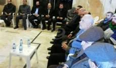 لقاء تضامني في حسينية النبطية مع الشيخ النمر