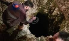 النشرة: سقوط شابين في المغارة المكتشفة حديثا في بلدة قليا