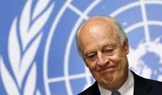 دي ميستورا اختتم مشاوراته في إيران حول سوريا