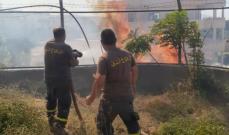 الدفاع المدني اخمد حريقا في ببنين العكارية