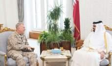 نائب أمير قطر بحث مع قائد القيادة المركزية للقوات المسلحة الأميركية العلاقات العسكرية