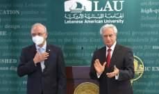 معوض خلال حفل تسلم وتسليم الرئاسة في LAU: مصرون على رفع التحدي وتقديم الأفضل