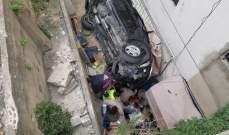 النشرة: 5 جرحى بانقلاب سيارة بشارع مار الياس في حارة صيدا