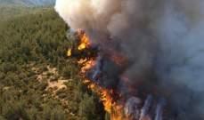 حريق كاليفورنيا انتشر بوتيرة أقل في ظل رياح عاتية