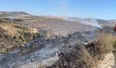 الدفاع المدني: انتهاء عمليات إطفاء النيران في أحراج محرونة ومزرعة مشرف ودير انطار