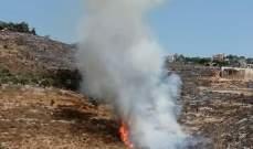 اندلاع حريق في حصن عار- حجولا والدفاع المدني توجه لاخماده