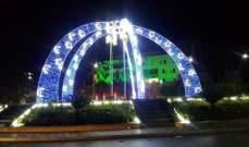 رفع زينة المولد النبوي في القصر البلدي وساحة النجمة بصيدا