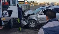 جريحان في حادث سير بالقرب من مطعم الباشا على أتوستراد القلمون
