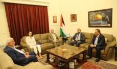 سفيرا فنزويلا والجزائر بلبنان يقومان بزيارة تضامنية لسفارة دولة فلسطين