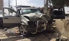 التحكم المروري: 6 جرحى نتيجة حادث تصادم بين سيارتين على طريق عام زحلة