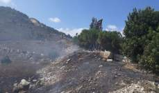 الدفاع المدني تمكن من إخماد حريق في بلدة عديسة