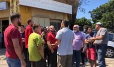 اعتصام لاصحاب محال احتجاجا على قرار بلدية صيدا بناء جدار لعقار مجاور