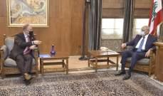 بري بحث مع ديل كول بالخروقات الاسرائيلية للسيادة اللبنانية وضرورة إستئناف إجتماعات ترسيم الحدود