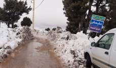 وزارة الاشغال اعادت فتح طريق وطى مشمش البويدرات باتجاه واحد
