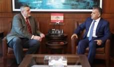 اللواء ابراهيم التقى الممثل الخاص للأمين العام للأمم المتحدة في لبنان