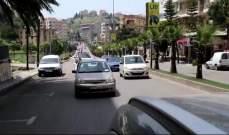 النشرة: حراك النبطية نظم مسيرة سيارة