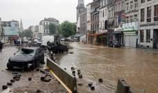 20 قتيلا و20 مفقودا في بلجيكا نتيجة الفيضانات
