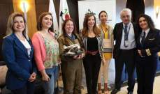 ترحيب بوصول قائدة الطائرة البريطانية اماندا هاريسون الى لبنان