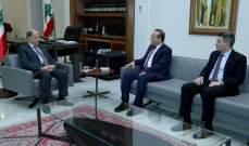 الرئيس عون عرض رائد خوري الاوضاع الاقتصادية والمالية